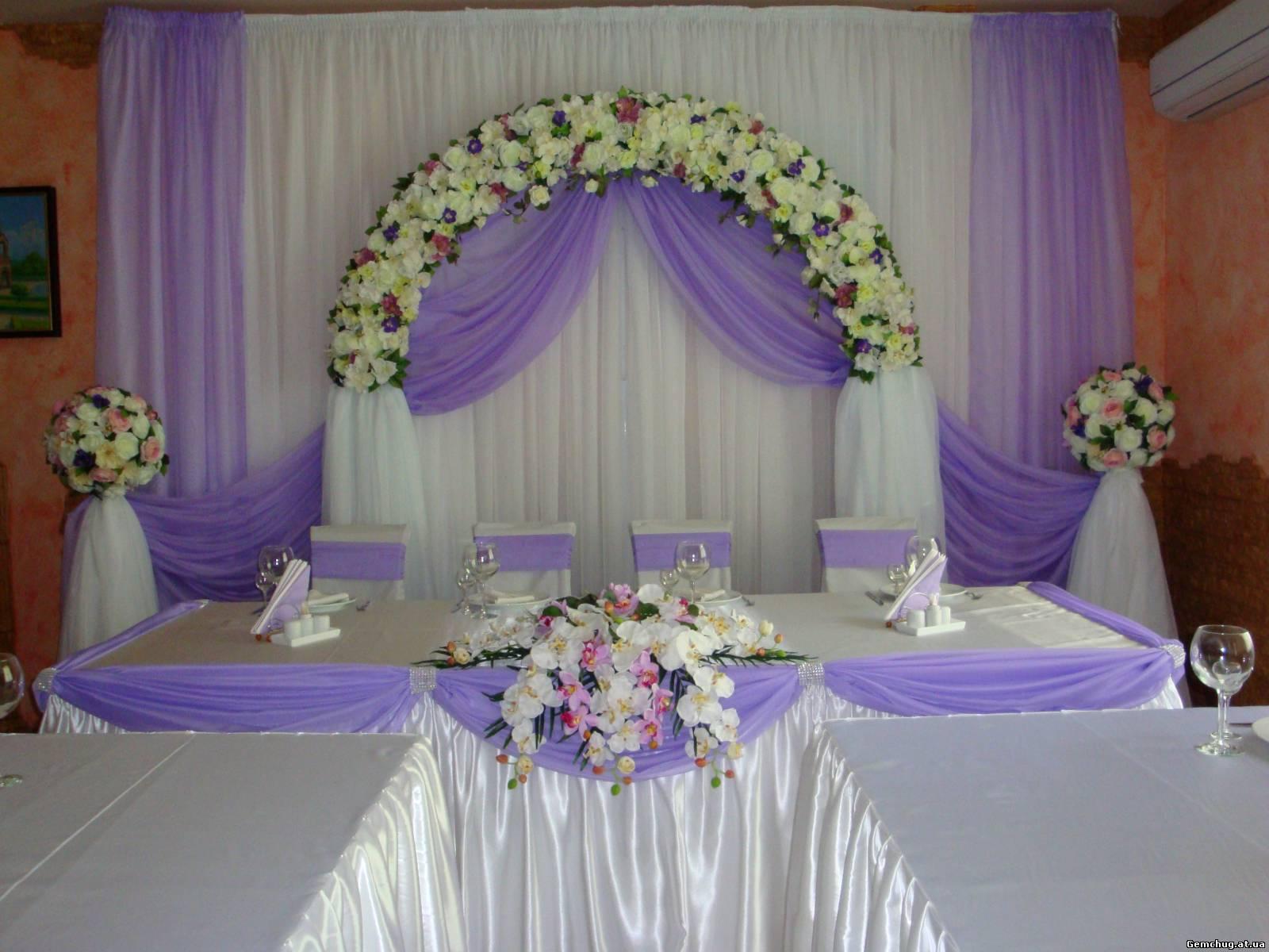 Украшение свадеб в сиреневом цвете фото